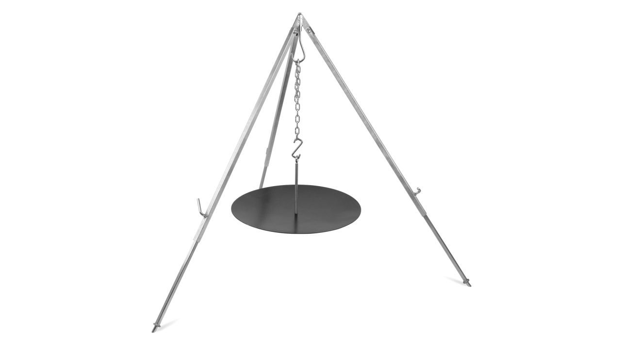 Petromax 吊掛式鍛鐵烤盤 h-fs56 Hanging Fire Bowl for Cooking Tripod